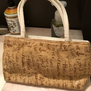 SALE 5 for $20 Suede/White Faux Leather Purse